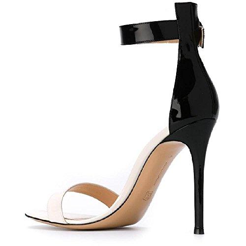 Sandalias de tacón alto de Gianvito Rossi en piel suave dorada - Número de modelo: G60497 15RIC NSMMEKN Oro