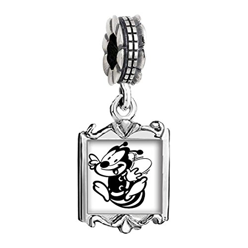Baby Bee Charms (Silver Plated Happy Honeybee Photo Family Mom & Baby Girl & Dad Dangle Bead Charm Bracelet)