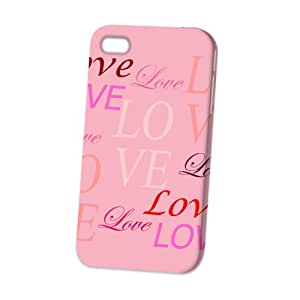 Case Fun Apple iPhone 4 / 4S Case - Vogue Version - 3D Full Wrap - Pink Lots of Love
