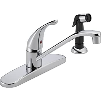 Peerless Single Handle Kitchen Sink Faucet With Side