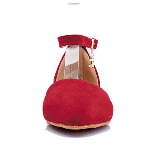 RAZAMAZA Tobillo Bombas Zapatos de Red Mujer Correa zq8vSzr