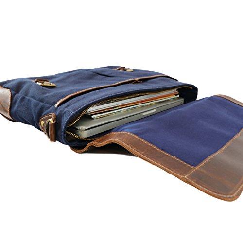 Di Caso Messenger La In Pelle Blu Bag Carico Jason Sid amp; Vain OZAqFv