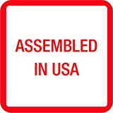 BOX USA BUSA303 Tape Logic Labels,Assembled in U.S.A., 1'' x 1'', Red/White/Blue (Pack of 500)