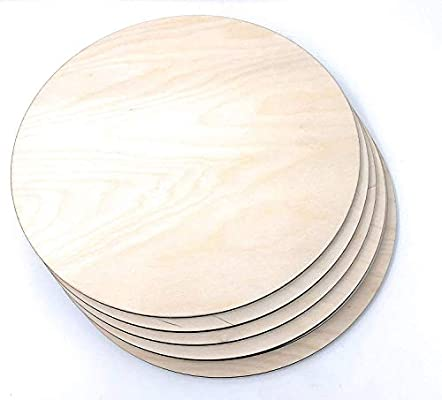 Pack of 3 Baltic Birch Unfinished Wood Circles for Crafts Wood Plywood Circles 10 inch 1//4 Inch Round Wood Thick Cutouts by Woodpeckers