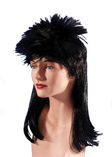 Joan Jett Costumes (Loftus International Adult Star Power 80's Rockstar Joan Jett Wig, Black, One Size)