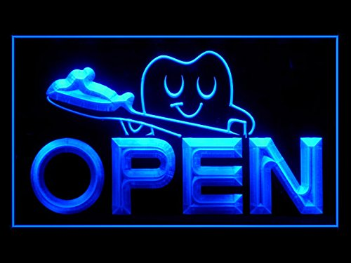 Open Dentist Doctor Toothbrush Care Display Led Light Sign