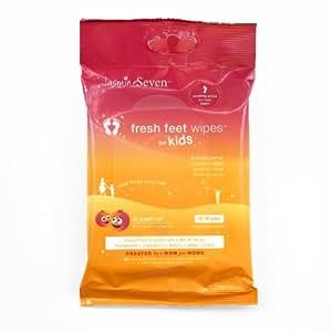 Jasmine Seven Kids Fresh Feet Wipes Travel Pack, Grapefruit, 10 Count