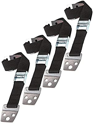 Black All Metal Parts 4 Pack Furniture Anchors for Baby Proofing Anti-tip TV Straps Safety