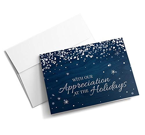 (Rustic Snowflake Appreciation - Christmas Cards   25 Greeting Cards with Your Custom Message and Envelopes   Printed in the USA)