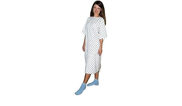 3 Pack - Demure Hospital de impresión albornoz/bata de hospital Paciente con lazos - Talla única: Amazon.es: Amazon.es