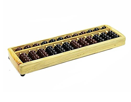 Happy Will Vintage Chinese Wooden Abacus Lucky Calculator Soroban School Office Calculation