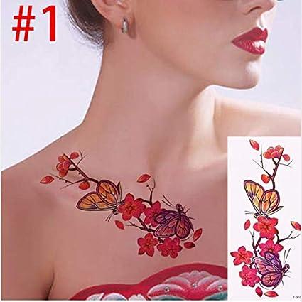 UPUPUPUP 3D Realista Flor Rosa Sexo Impermeable Tatuajes ...