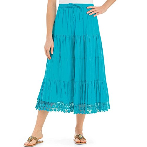 Womens Crochet Trimmed Skirt Plus Size