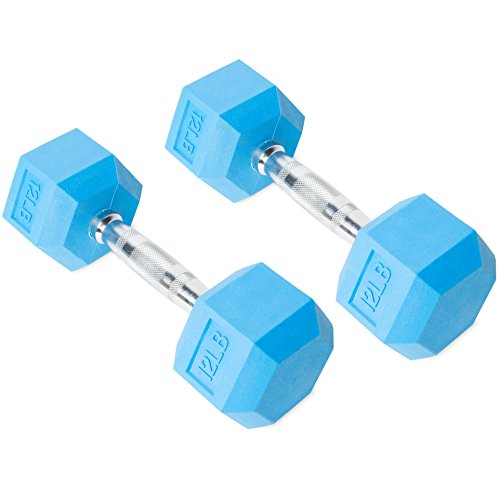 CAP Barbell Color Coated Hex Dumbbell, 12-Pound, Set of 2