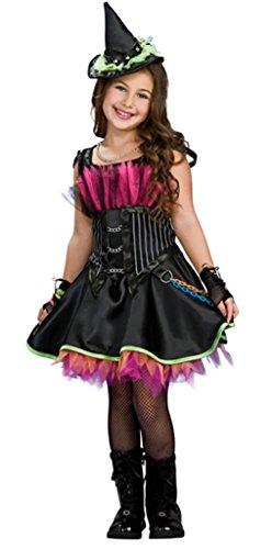[Woo2u Halloween Hat Dance Dress Cosplay Party Genius Girls Kids Costume Black L] (Middle Eastern Girl Costume)