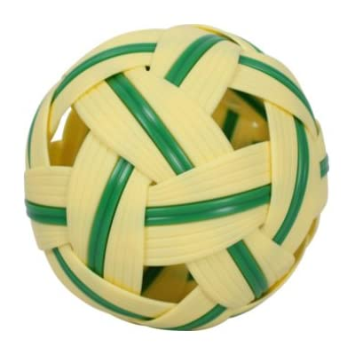 perfect2desire Rattan Ball Sepak Takraw Sport Kick Ball Rattan Wood Standard Size 5 Inches : Sports & Outdoors