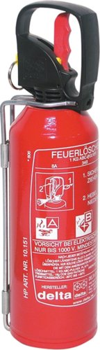 Auto-Feuerlöscher, ABC-Pulver, GS Feuerleistung 8A-34BC, Inhalt 1kg