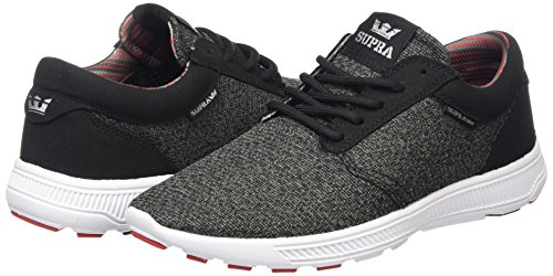 blk Mixte white Run Gris Basses Chr charcoal Hammer Adulte Supra Sneakers Heather red wPvIaqn6
