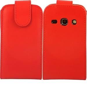 Voltear Concha Caso Cubrir Para Samsung Galaxy Fame S6810 / Red