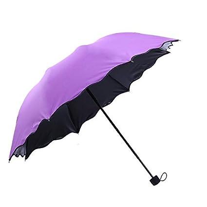 ultabuild (TM) plegable paraguas lluvia mujeres automático calidad impermeable resistente al viento anti UV