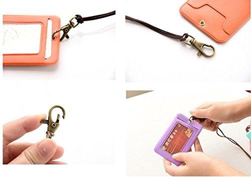 Biglietto Novago Di Trasporto Id arancione Rosa Da Porta Badge Visita Titoli qOOE7