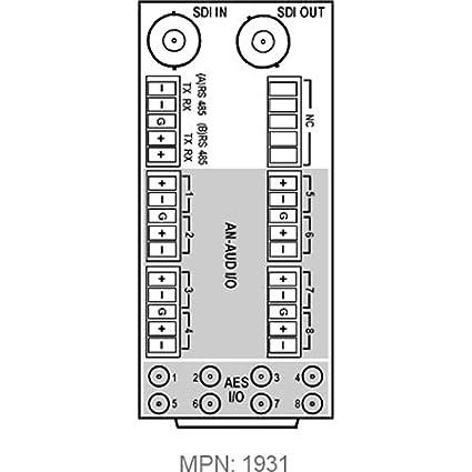 Amazon.com: Cobalt Digital RM20-9933EMDE-B-HDBNC 20-Slot Frame ...