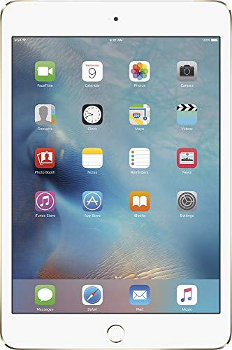 Apple iPad Mini 4 (128GB, Wi-Fi + Cellular, Gold) (Renewed)