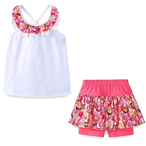 - Frogwill Little Girls 3 Pieces Embroidered Playwear Sunhat Shorts Sets 4T Pink