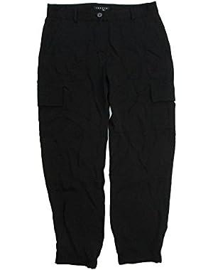 Theory Women's Hannon Modern Silk Georgette Cargo Pants 6 Black
