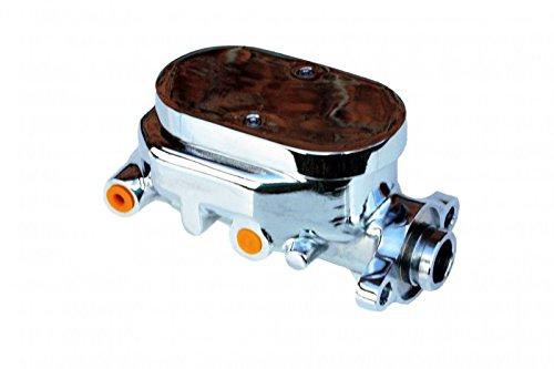 GPS Automotive MC006 - m/c,1-1/8 in Flat-Top Aluminum Master cylinder (Chrome)