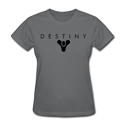 ToWi Women's Destiny Logo Hunter Warlock Titan Short Sleeve Shirt DeepHeather L