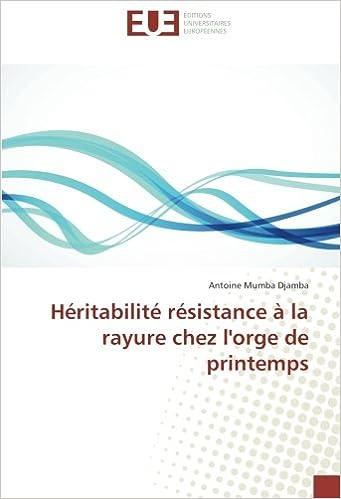 Héritabilité résistance à la rayure chez l'orge de printemps