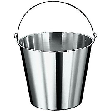 Paderno World Cuisine stainless steel graduated bucket, 12 5/8 ()