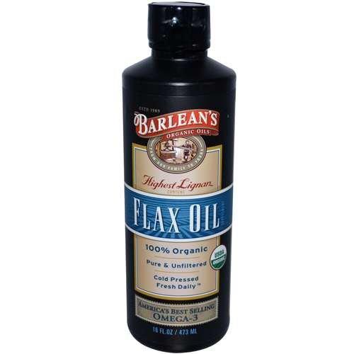 Barlean de 100% Organic Flax Oil 16 fl oz AGE (Acides Gras Essentiels) Suppléments