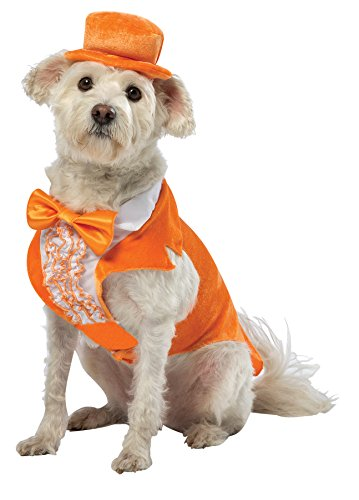 Dumb & Dumber Lloyd Tuxedo J-style Jacket w/ Bow Tie & Hat Pet Dog Costume, XL -
