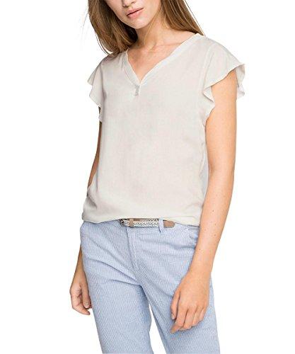 Esprit Mit Flügelärmeln, Camiseta para Mujer Blanco (OFF WHITE 110)