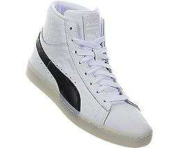 Puma - Boy\'s Basket Classic Mid Sneakers - White/Black