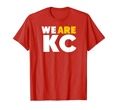 KC Chief Red Football We Are Kansas City Pro Tailgate Wear T-Shirt ()