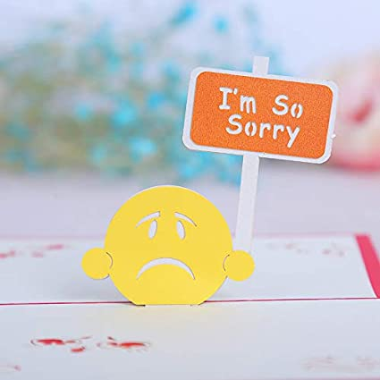 Amazon 3d greeting card apology card im so sorry sorry 3d greeting card apology card im so sorry sorry greeting card m4hsunfo