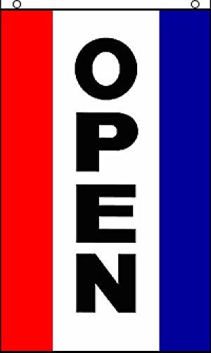 Open Vertical Flag - Open (Vertical) Flag 3x5ft Poly