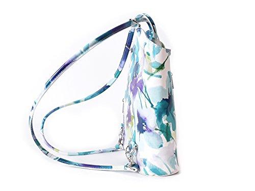 Unbekannt , Sac à main porté au dos pour femme Multicolore Weiß Blau