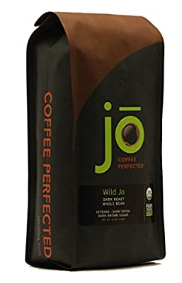 WILD JO: 12 oz, Dark French Roast Organic Coffee, Whole Bean Coffee, Bold Strong Rich Wicked Good Coffee! Great Brewed or Espresso, USDA Certified Fair Trade Organic, 100% Arabica Coffee, NON-GMO by Specialty Java Inc.