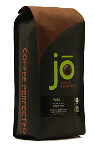 WILD JO: 12 oz, Dark French Roast Organic Coffee, Whole Bean Coffee, Bold Strong Rich Wicked Good Coffee! Great Brewed or Espresso, USDA Certified Fair Trade Organic, 100% Arabica Coffee, NON-GMO