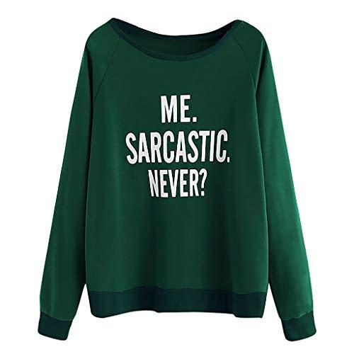 Fashion Women Casual O-Neck Long Sleeve Letter Print T-Shirt Top Blouse ()