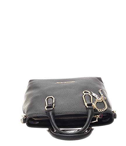 Trussardi Jeans Donna Borse a mano 75B00075-1Y000015 K2 CARRIE ECOLEATHER SMOOTH SHOPPING B Nero