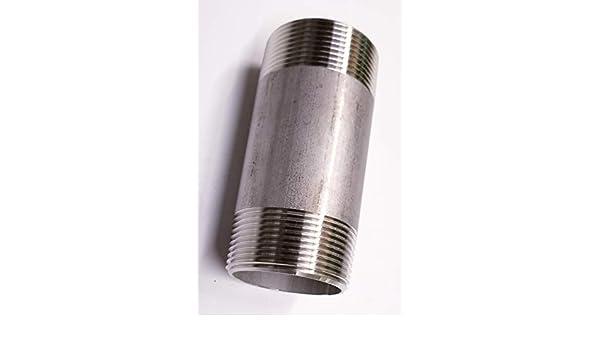 """2/"""" x 2-1//2/"""" Threaded NPT Pipe Nipple S//40 Steel Black                  /<N2090311"""