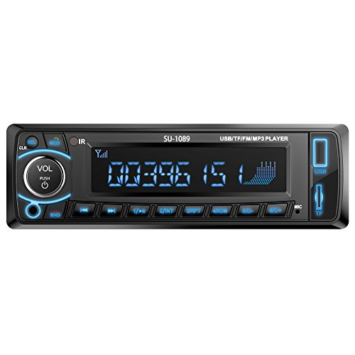 Double Din Car Stereo, 7 Inches Touch Screen Car Radio MP5 MP3 Player,Supports Bluetooth/FM/Rear Camera/USB/TF with Remote Control by Ironpeas