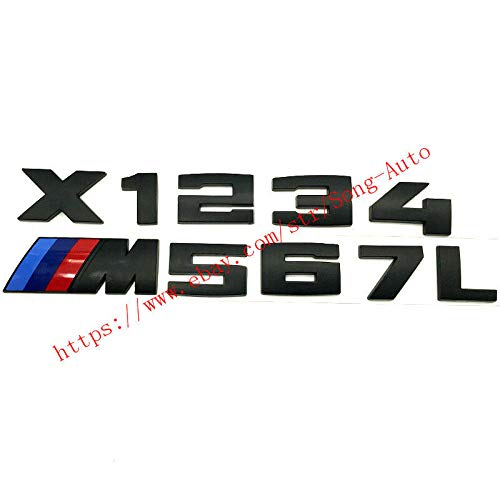 FidgetFidget M5 Black Trunk Label Sticker Badge Emblem for BMW E53 E52 E39