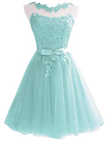 Kurz Tüll Abendkleider JAEDEN Ballkleider Brautjungfernkleider Aquamarin Hochzeitskleider Partykleider zwgEAx8Hq