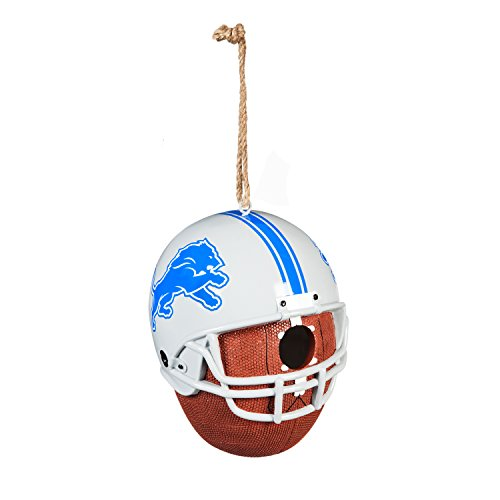 Team Sports America Detroit Lions Team Logo and Ball Hanging -